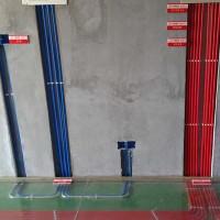 家装开槽水管开槽施工直径25一根管子80mm*40mm混凝土墙