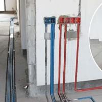 家装开槽电线开槽施工直径40mm*40mm混凝土墙