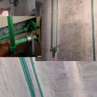 家装水管施工德国洁水包安装规格25*4.2